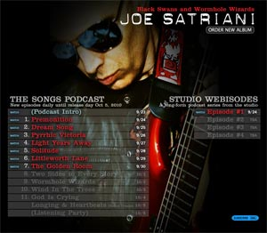 Joe Satriani Black Swans and Wormhole Wizards Podcast Series